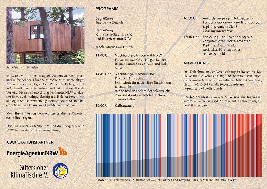 """Referat auf der Veranstaltung """"Bauen mit Holz"""" in Gütersloh"""