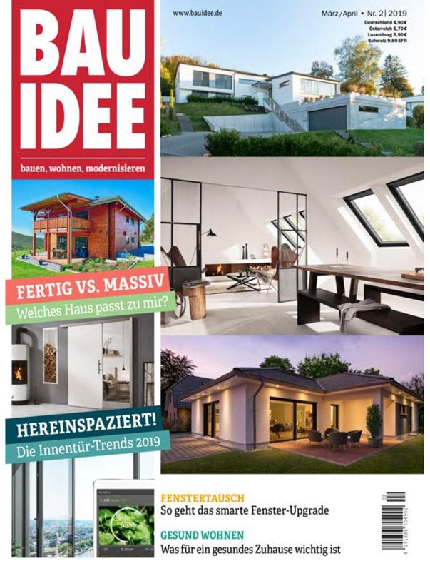 "BAUIDEE, März/ April – Nr. 2/ 2019, ""Sonnenverwöhntes Sechseckhaus"""