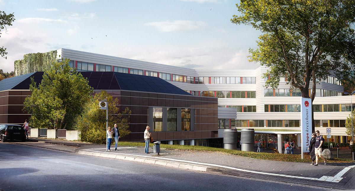Gebäudesanierung Kreishaus des Kreises Lippe in Detmold im Rahmen des integrierten Klimaschutzprojektes LiReK (Lippe_Re-Klimatisiert) ©pape oder semke ARCHITEKTURBÜRO