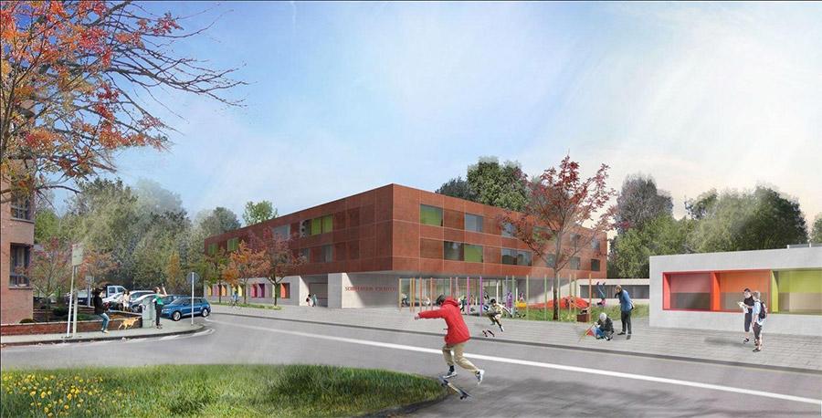 03.04.2017 - Neubau Schulcampus Esch-Wobrécken in Luxemburg im innovativen internationalen Planungskonsortium. Foto: witry & witry architekten, Luxemburg