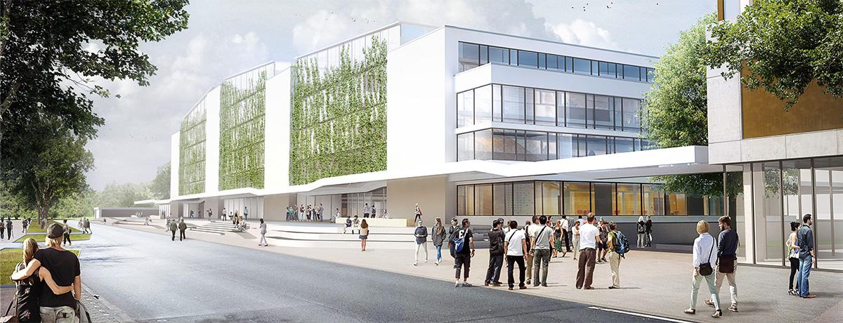 Neubau einer zweigeschossigen Bibliothekslandschaft nach dänischem Vorbild und Sanierung der 4 Fakultätsblöcke für Geisteswissenschaften der Christian- Alberecht- Universität zu Kiel (CAU)