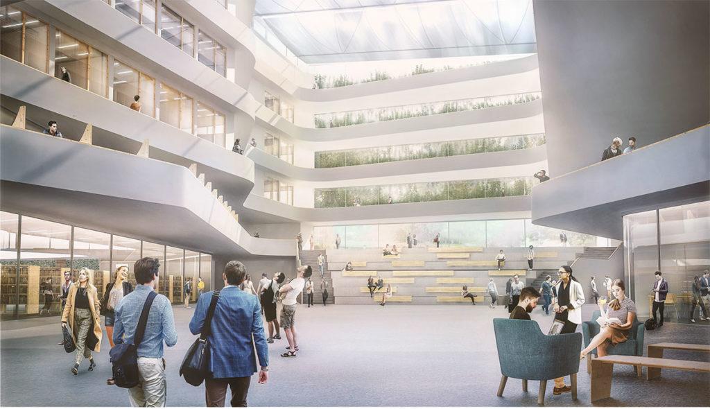 Wettbewerb Neubau einer zweigeschossigen Bibliothekslandschaft nach dänischem Vorbild und die Sanierung der 4 Fakultätsblöcke für Geisteswissenschaften der Christian- Alberecht- Universität zu Kiel (CAU)