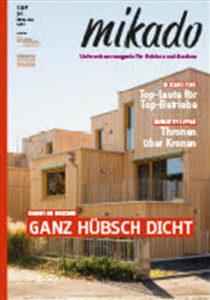 01.07.2017 – pape oder semke ARCHITEKTURBÜRO wird Thema des Monats in der Holzbau-Fachzeitschrift mikado, Ausgabe 07.2017, Veröffentlichung auf Seite 10 – 19