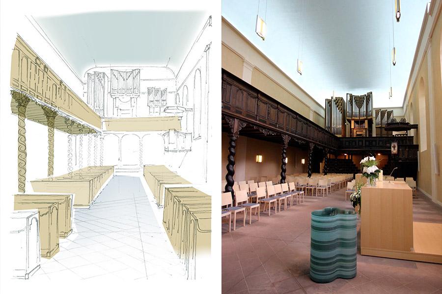 Sanierung mittelalterlichen klosterkirche for Innenarchitektur lemgo